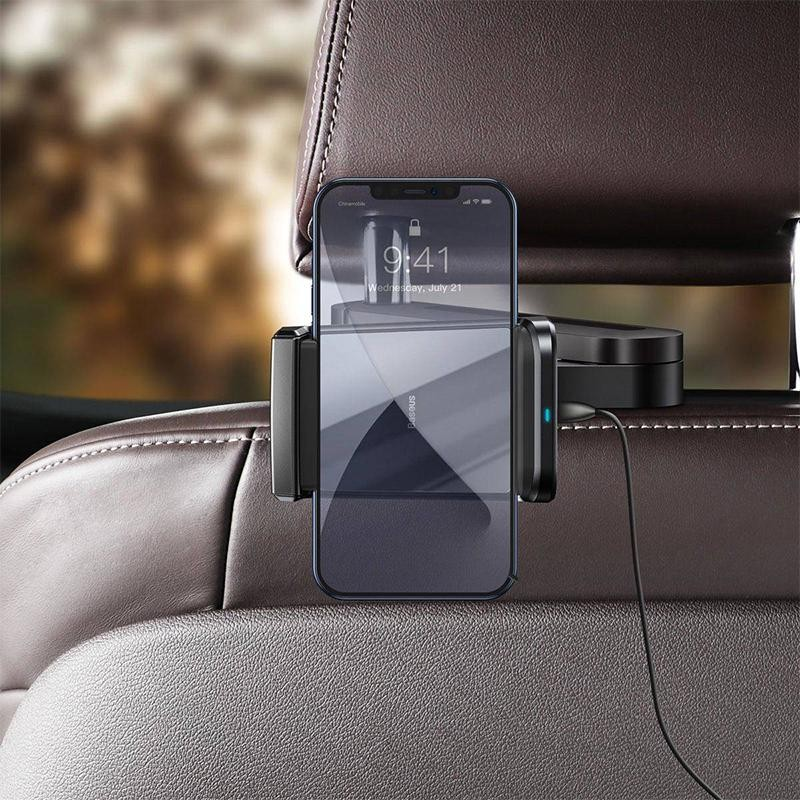 Автомобильный держатель Baseus Wireless Charger Energy Storage Backseat Holder (WXHZ-01)