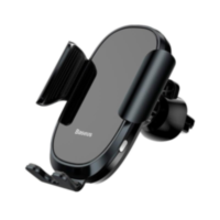 Автомобильный держатель Baseus Wireless Charger Smart Car Mount Cell Phone Holder (SUGENT-ZN01) черный